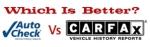 Autocheck Vs Carfax